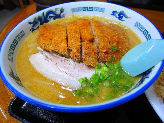 鈴木食堂の味噌カツラーメン