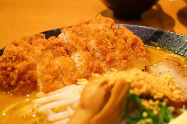 「麺屋・國丸。南国店」味噌カツラーメン(超バタートッピング)