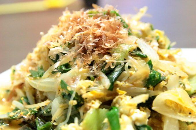 低糖質レシピ!野菜たっぷり「しらたきチャンプルー」で痩身なるか!