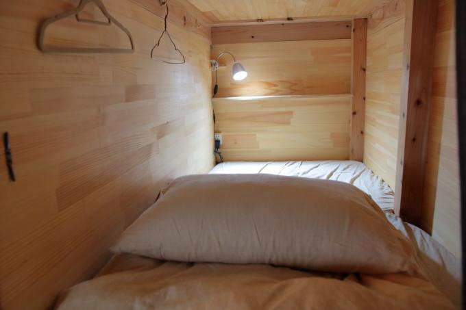 はりまや橋ゲストハウスの二段ベッド内