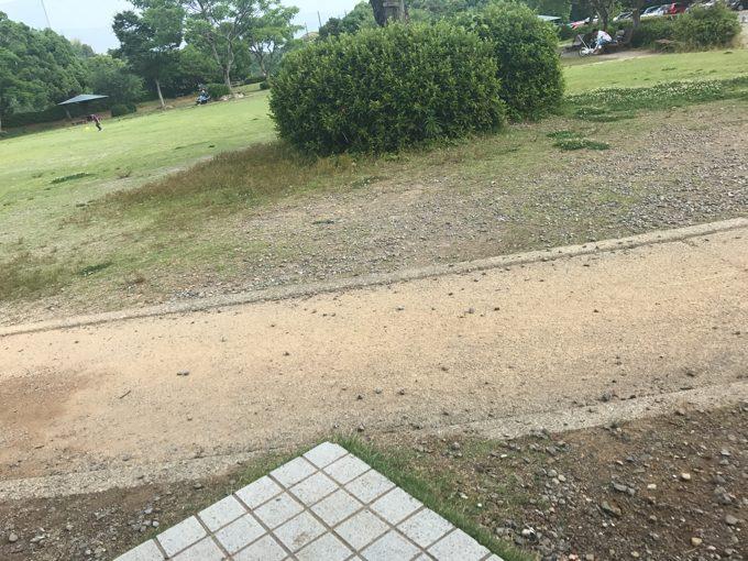 1歳児は泥水が好き。娘を連れて公園に行った帰りに、ギガマック。