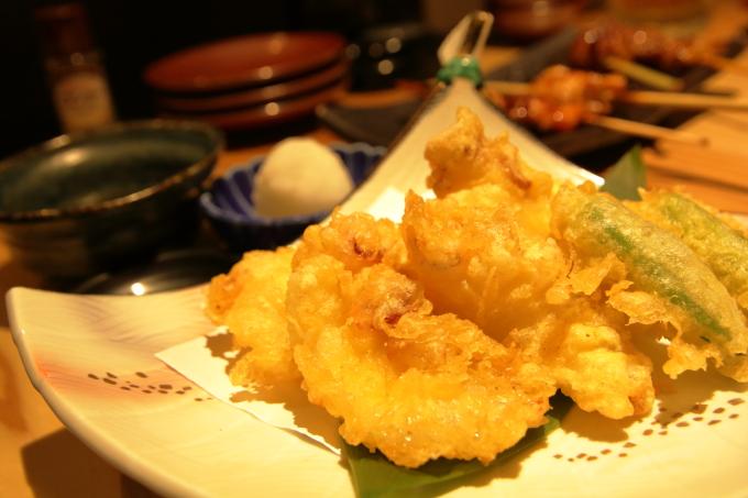 鯛小判、下津井蛸の天ぷら