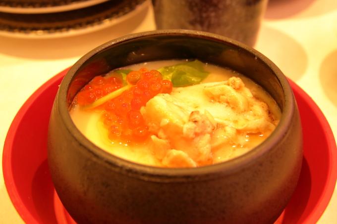 はま寿司・2017年10月5日からの期間限定フェアメニュー・炙りトロサーモンとイクラの茶碗蒸し