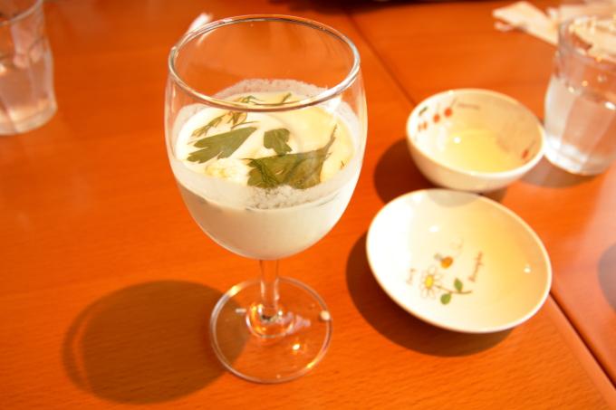 カフェ モネの家「サツマイモの冷製スープ」
