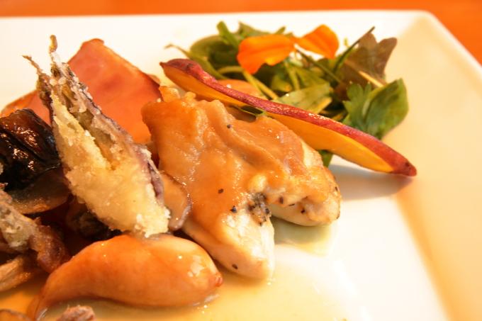 カフェ モネの家「四万十鶏のロースト モネレシピ」の四万十鶏
