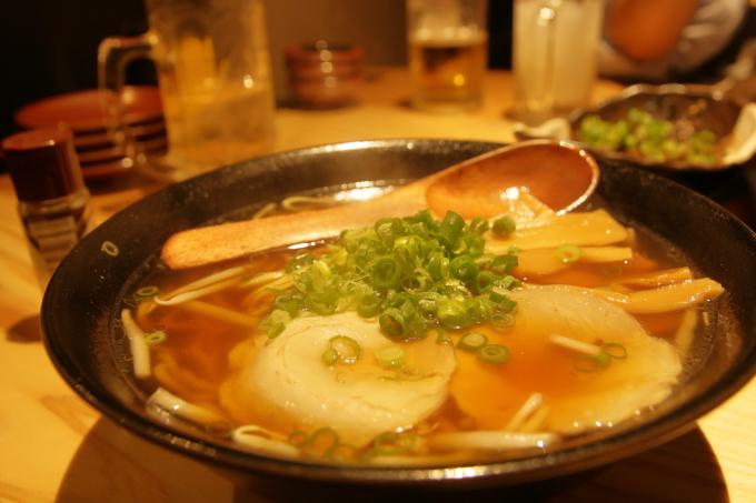 鯛小判の醤油ラーメン