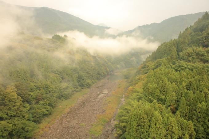 永瀬ダム周辺の風景・高知・香美市物部町