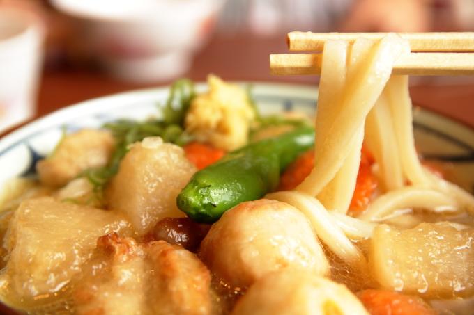丸亀製麺「ごろごろ野菜の揚げだしうどん」の麺