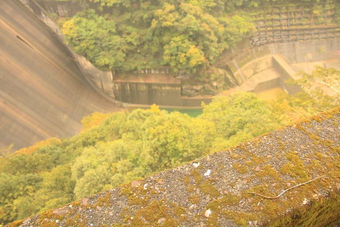 永瀬ダム、香北町側の物部川、下方・高知・香美市物部町