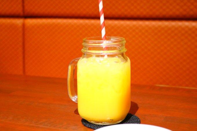 モーテ桂浜・テラスコーヒー01「オレンジジュース」