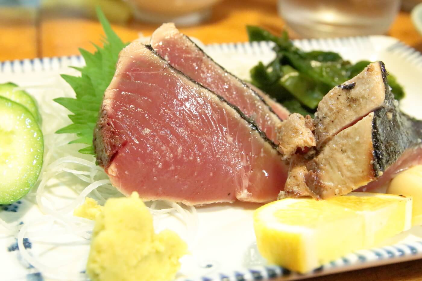 居酒屋大吉 カツオの塩タタキ