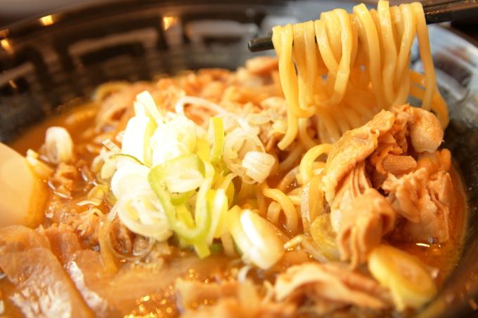 ココイチ「カレー肉そば」の麺