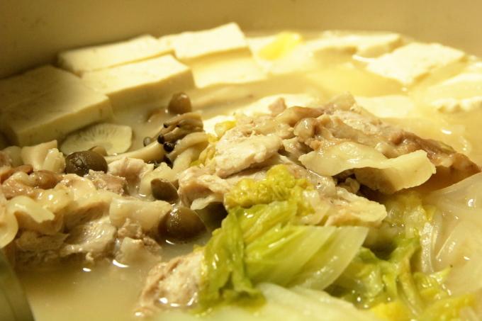 鍋キューブで作った白湯鍋