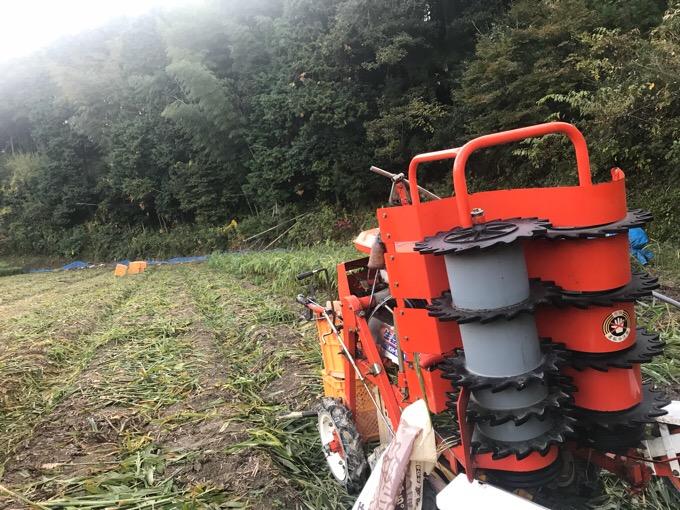 生姜の収穫機械