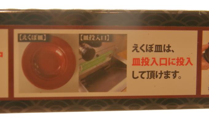 くら寿司、皿、投入口の説明