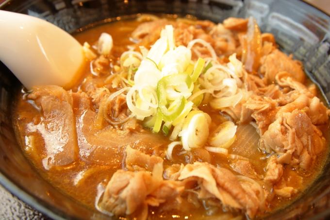 ココイチ「カレー肉そば」の肉