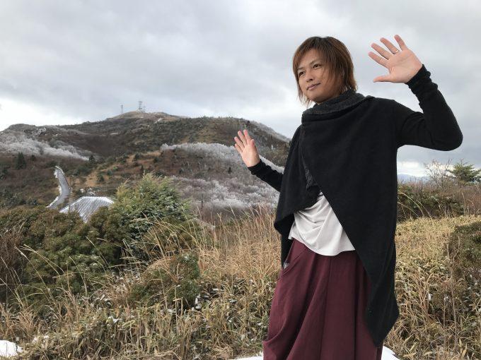 【高知】嶺北地域・大豊町「梶ヶ森」の山頂付近は、すでに雪景色!