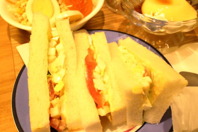 デポー京町店のランチ(サンドイッチ)