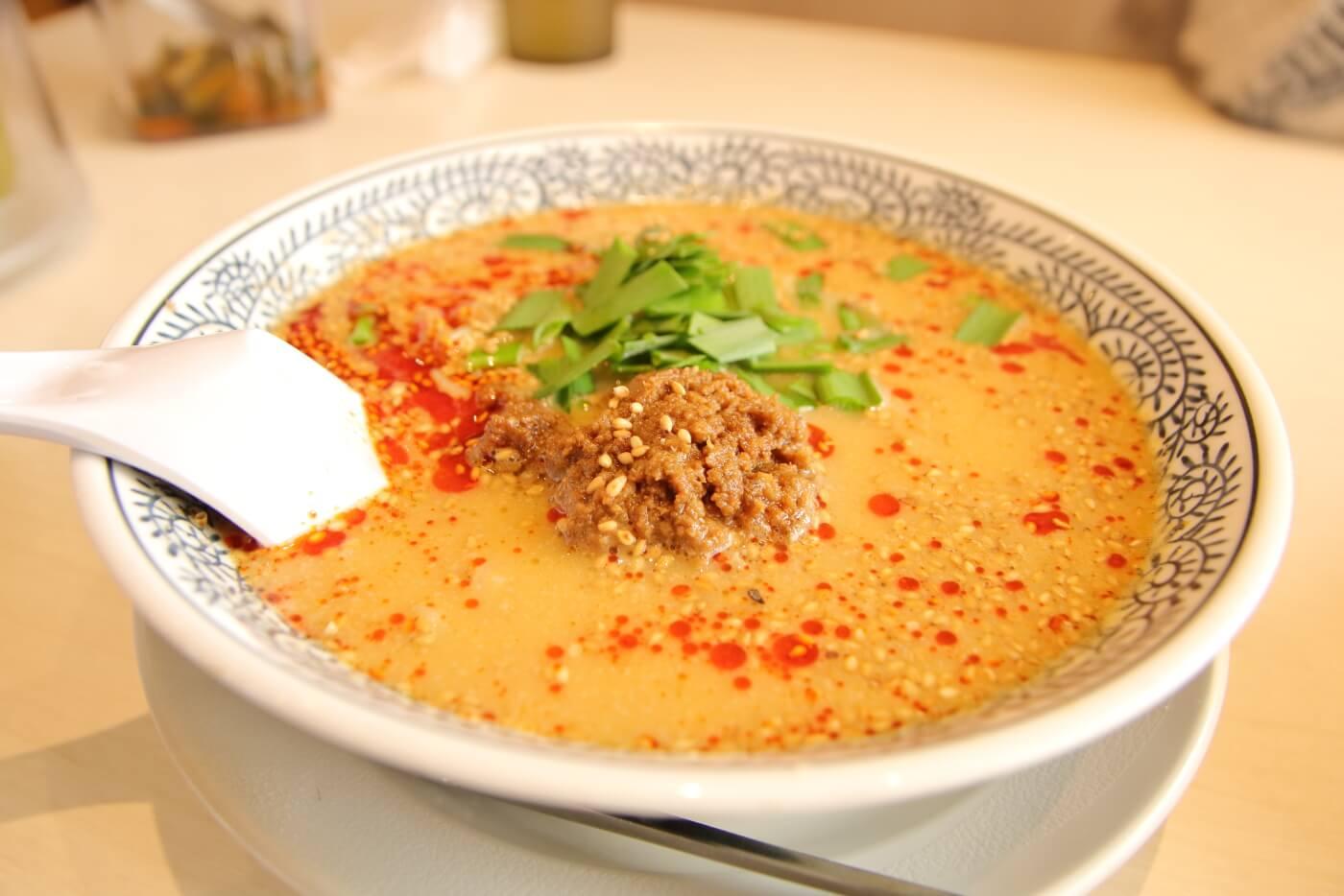 丸源ラーメン 白胡麻担々麺