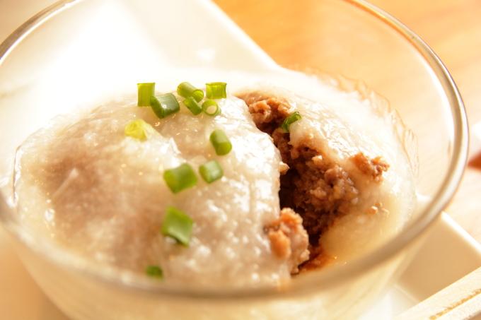 香南市のカフェ テルミツ 長芋のハンバーグ