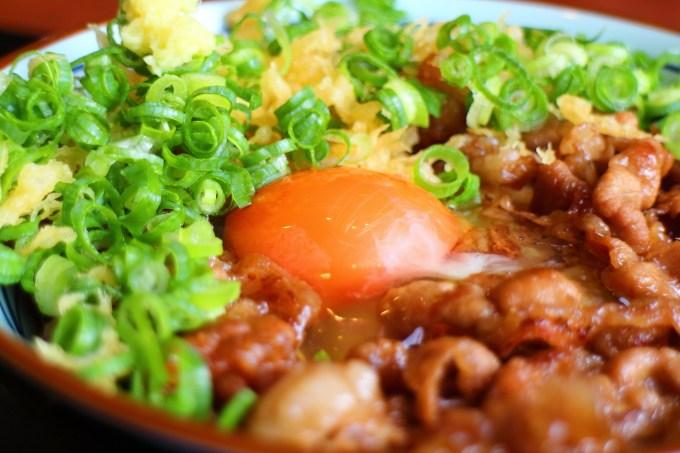 丸亀製麺の牛すき釜玉