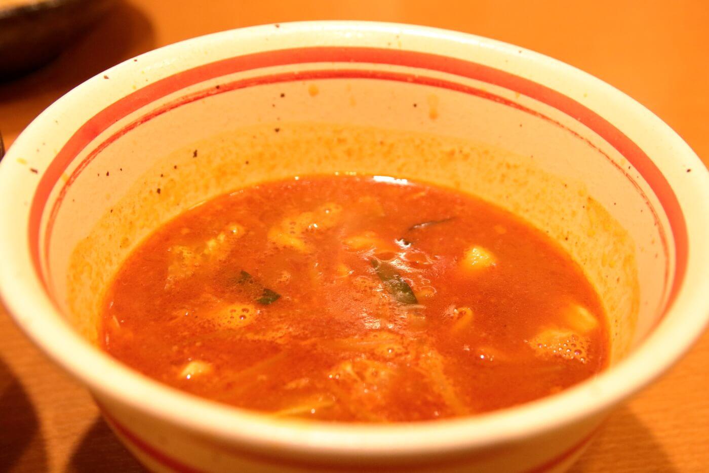 麺屋國丸 南国店 辛味噌つけ麺のつけダレ