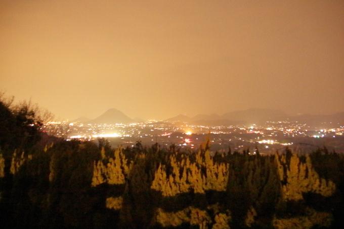 レオマワールドから見た丸亀市の夜景