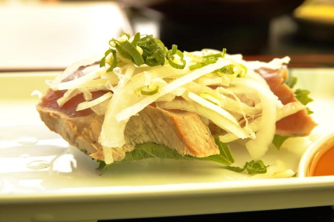 桂浜のレストラン「まつむら」ランチ カツオの握り寿司
