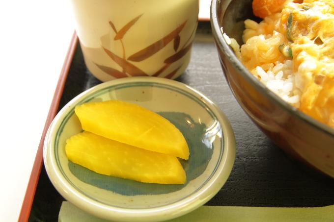 桂浜のレストラン「まつむら」ランチ(お新香)