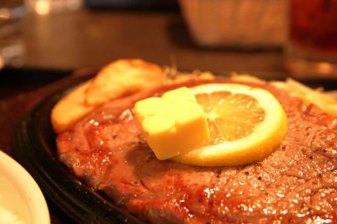 焼肉ぷるこぎ高知店 ステーキ定食大盛