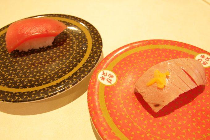 はま寿司の中トロと炙り中トロ