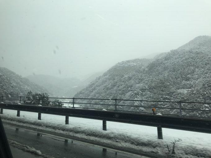 高知県越知町の雪景色