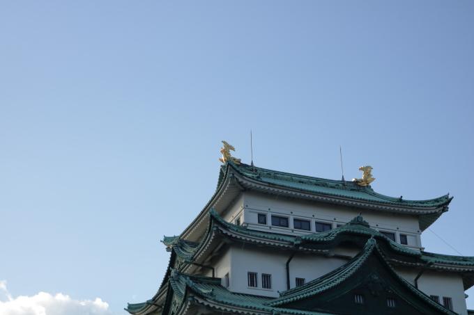 名古屋城 金のシャチホコ