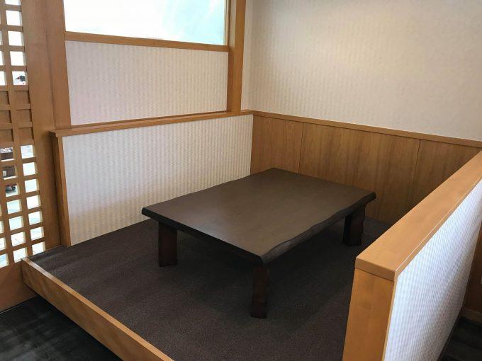 麺処あきちゃん鴨部店の座敷