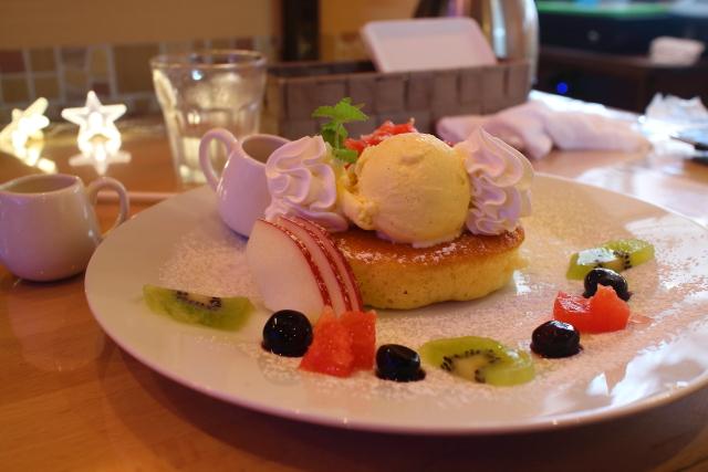 カフェヒラクのパンケーキ