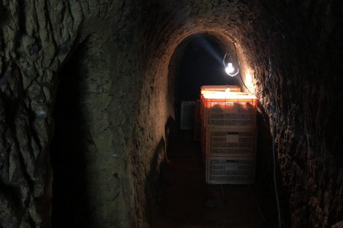 生姜貯蔵用の横穴