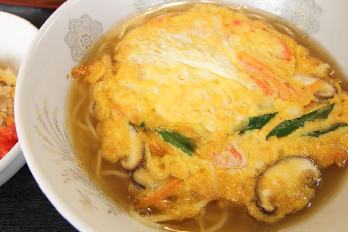 稲ぎくの天津麺チャーハンセット