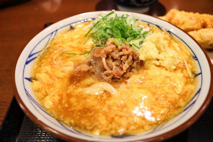 丸亀製麺肉たまあんかけうどん