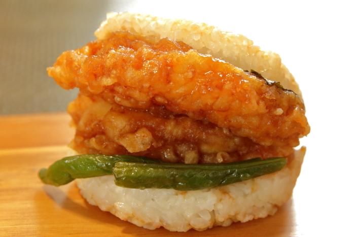 モスライスバーガー海老の天ぷら