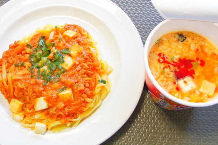 セブンプレミアムの冷凍麺 蒙古タンメン中本 汁なし麻辛麺 調理後