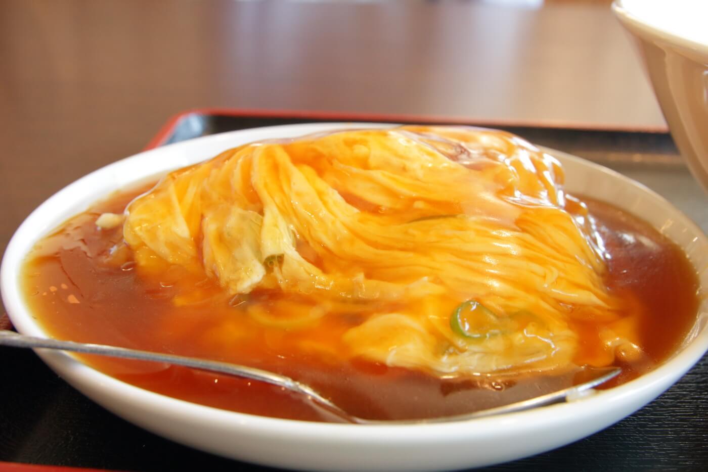 台湾料理鑫旺(シンオウ)ランチの天津飯 高知市大津