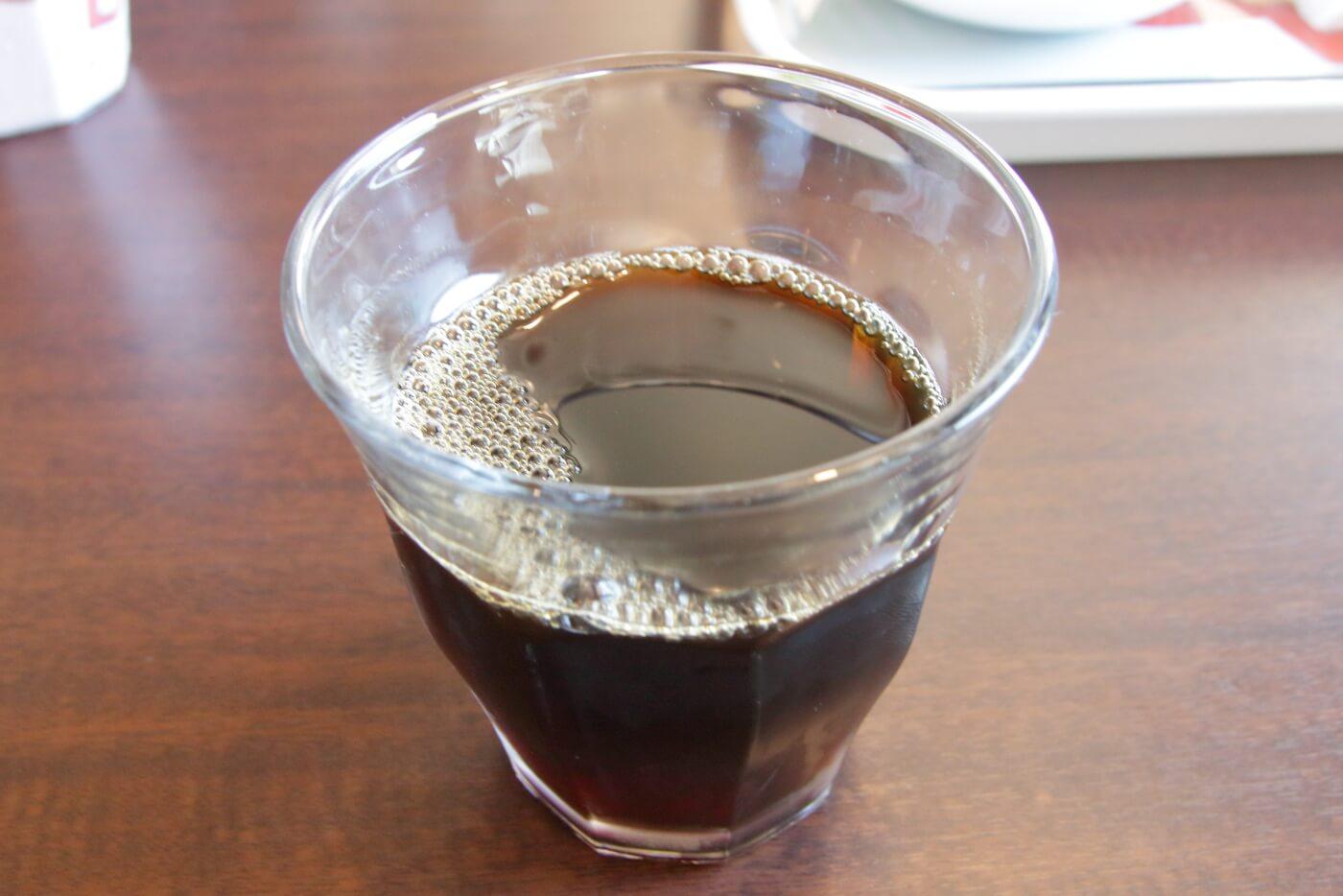台湾料理鑫旺(シンオウ)ランチのアイスコーヒー 高知市大津