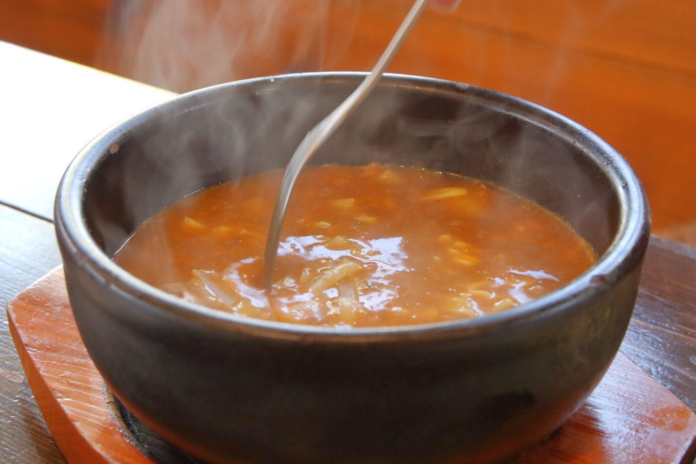ランヤニコット キノコとチーズのスープカレー