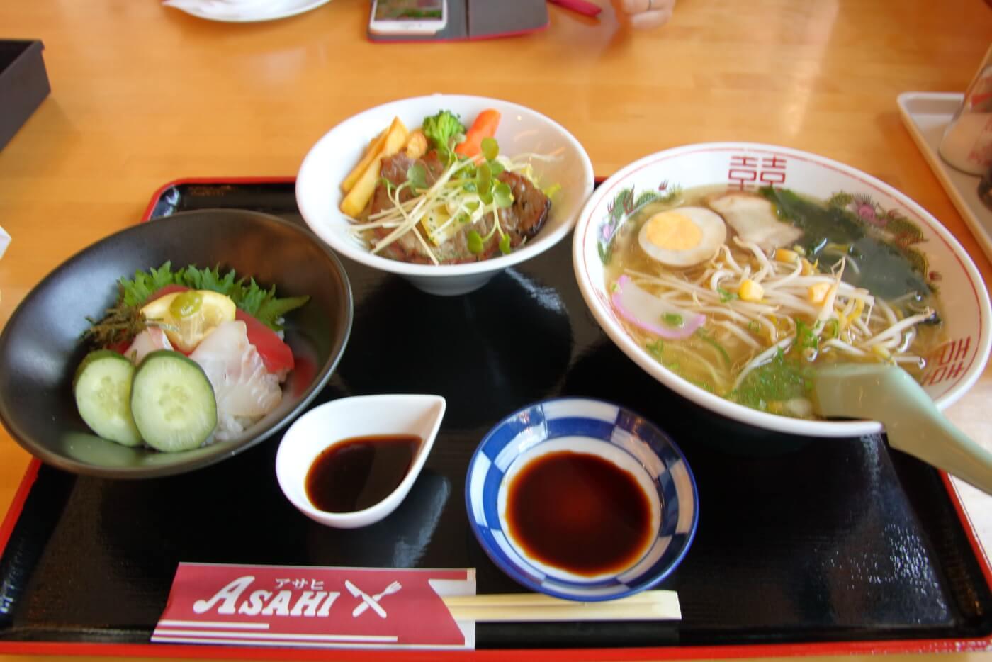 高知市 FAMILY RESTAURANT ASAHI ファミリーレストランアサヒ 満足プチ丼セット