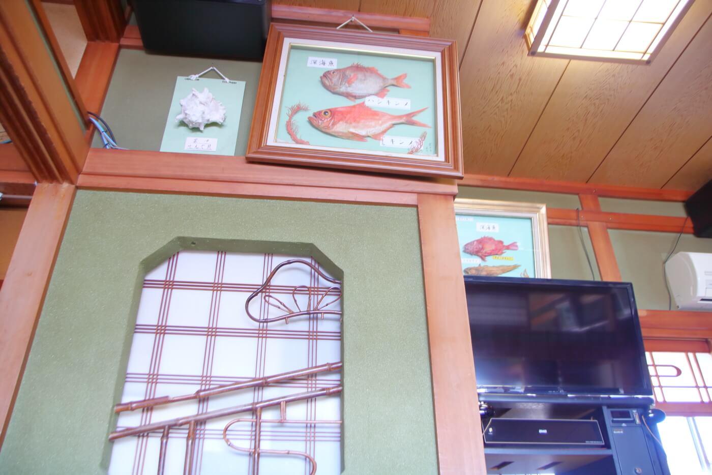 室戸市の料亭花月の店内 座敷