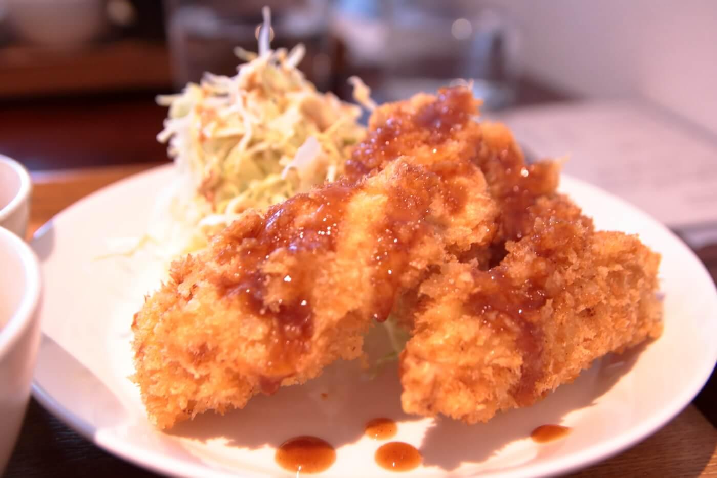 cafe Melba(メルバ) 日替わりランチ 鶏ささみフライ