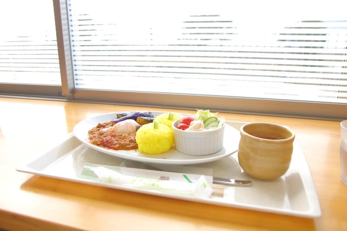 道の駅大山レストランのランチ ゆず玉キーマカレー
