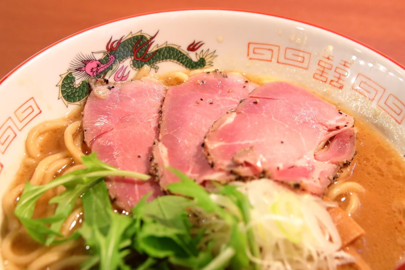 製麺処蔵木南国店 特製濃厚魚介豚骨ラーメン太麺のチャーシュー