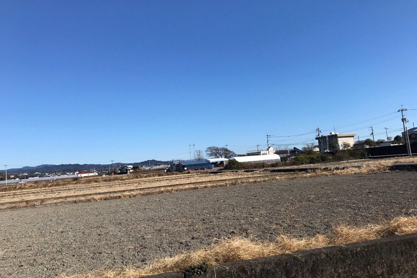 土佐角弘海産付近の田園風景