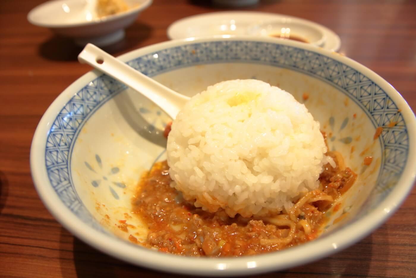 麺や倉橋 汁なし担々麺 シメの追い飯